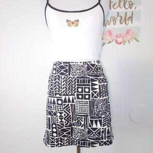 J. CREW abstract print skirt. Size 6